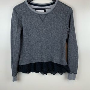 Abercrombie & Fitch Grey Sweatshirt w Black Lace